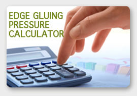 edge gluing pressure calculator